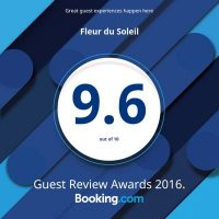 AWARD 9.6 BOOKING.COM 2016